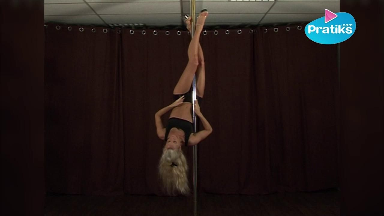 Pole dance - Basic invert to inverted crucifix (débutant)