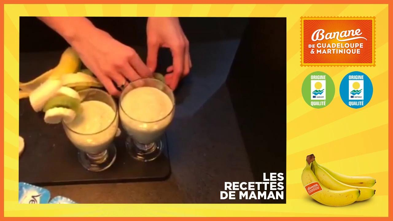 Le Smoothie tonique de Monika - banane de Guadeloupe et Martinique