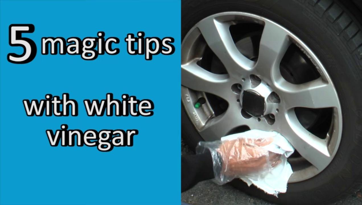 5 magic tips with white vinegar