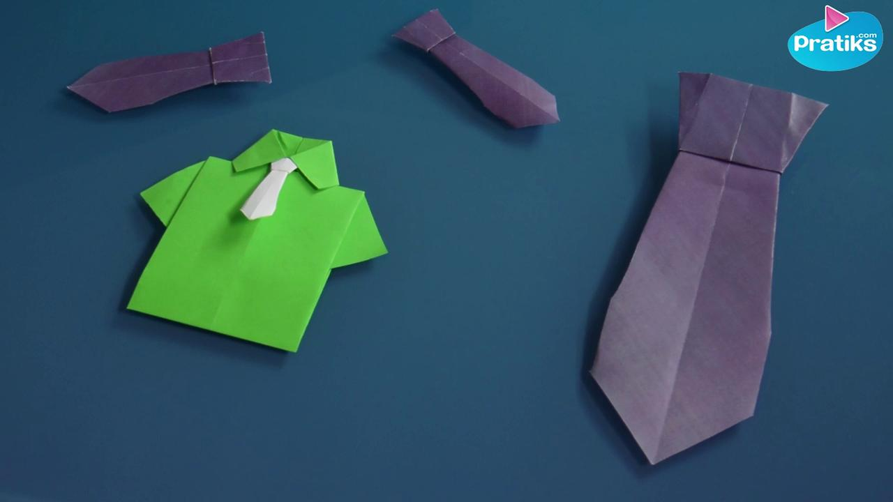 Origami - Comment faire une cravate en papier