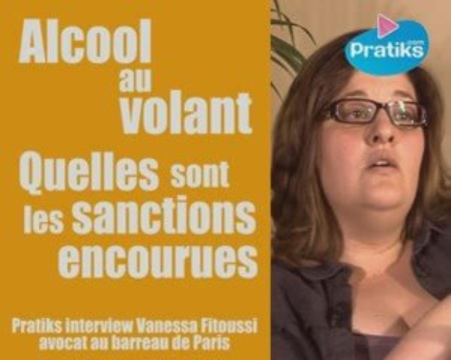 Alcool au volant. Sanctions encourues