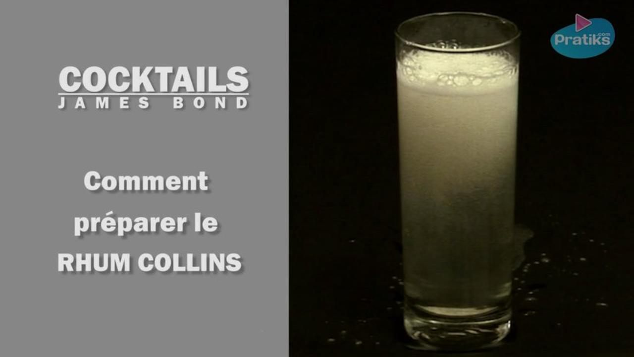 Cocktail James Bond - Comment préparer un rhum collins