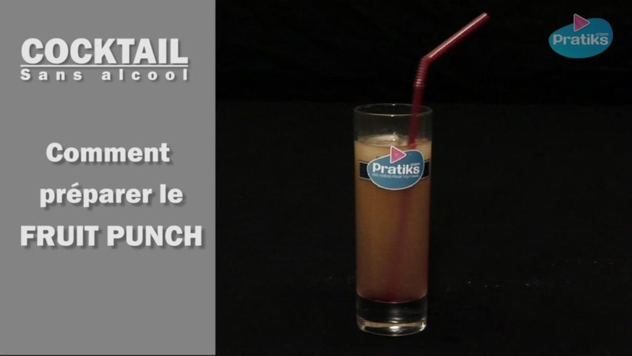 Cocktail sans alcool - Comment préparer un Fruit Punch