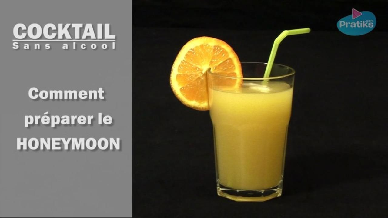 Cocktail sans alcool - Comment préparer un Honeymoon