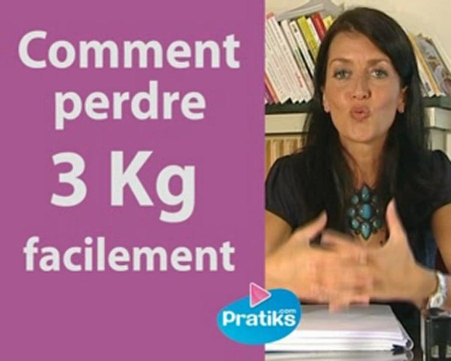 Comment perdre 3 kg facilement