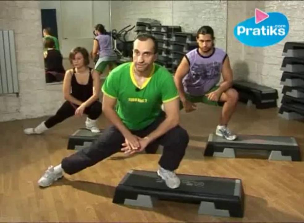 Fitness, Etirements avec step