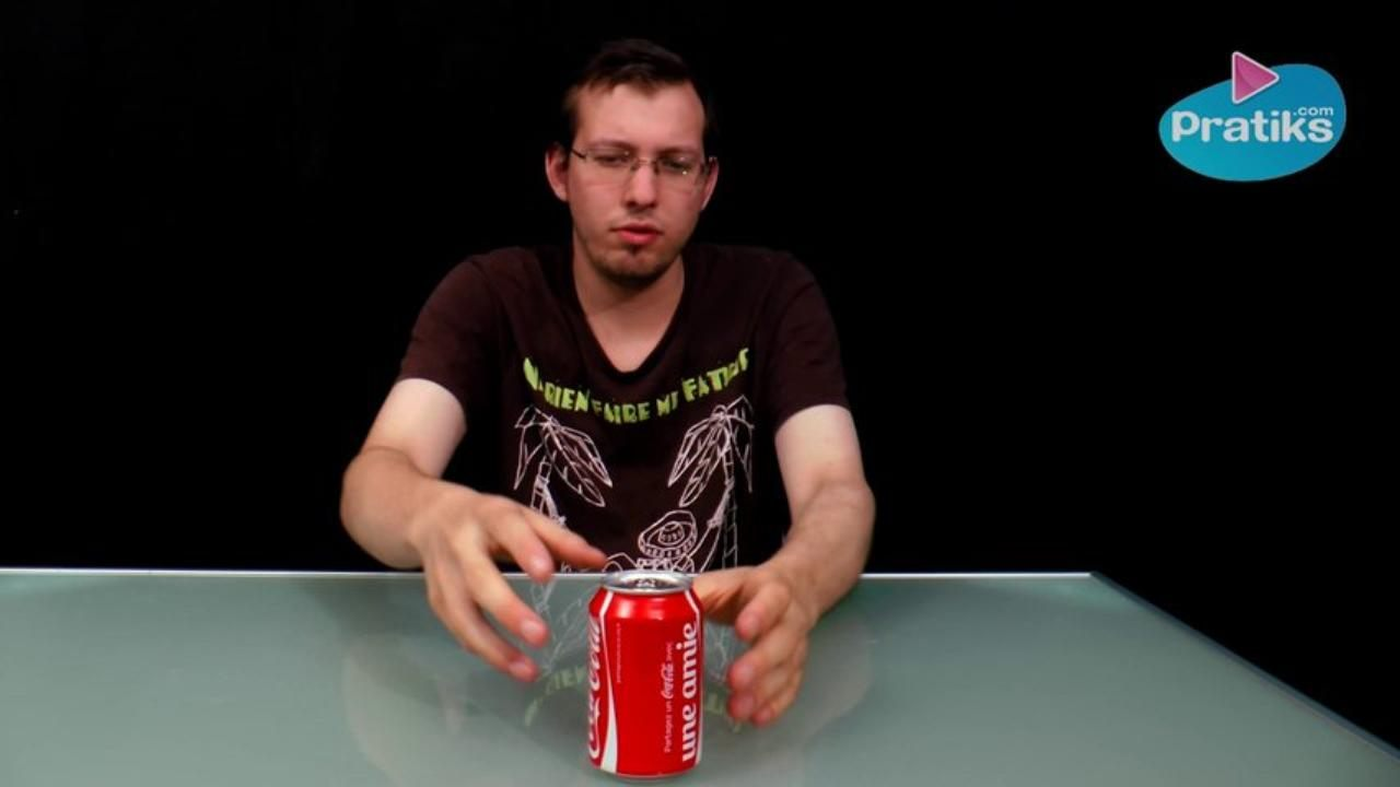 How to open a shaken can of soda
