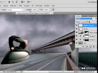 Photoshop CS4 : Rajouter une ombre porte